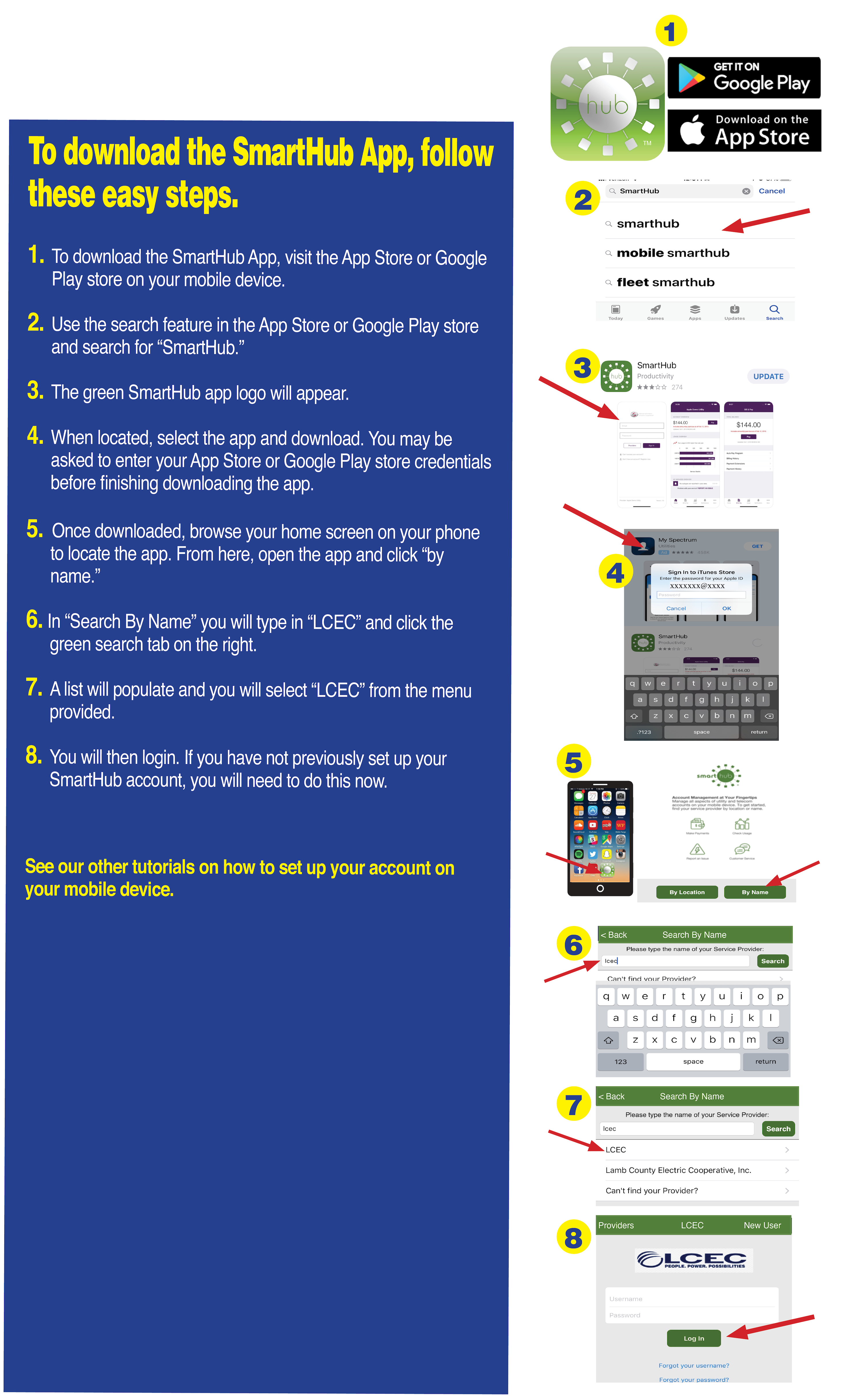 Downloading the SmartHub app « LCEC – Lee County Electric Cooperative